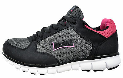 Lonsdale grey black and pink trainers size 4 uk new in box