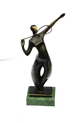 Abstract Table Tennis Player Sculpture Decorative Badminton Sportsman Miniature