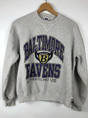 separation shoes 12079 b284d VINTAGE BALTIMORE RAVENS Sweatshirt Gray Crewneck Sz Large 1996 USA MADE