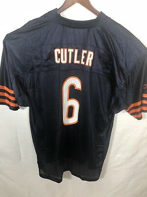 a11c5034b NFL Equipment On Field Reebok Chicago Bears  6 J Cutler Jersey Mens XL  Netted