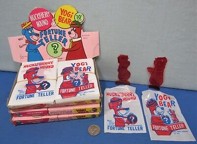 10₵ Fortune Tellers ~ Huckleberry Hound & Yogi Bear 1977 Store Display Box Full