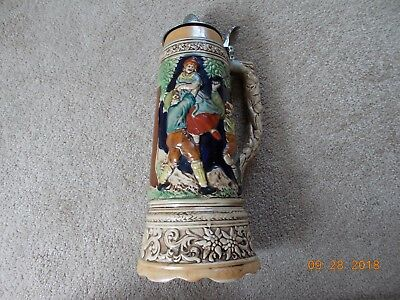 Vintage Beer Stein with music box
