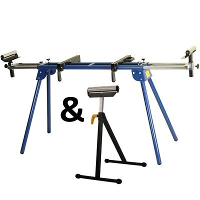 Universal Mitre Chop Saw Leg Stand Miter Table Bench Extendable Roller Stand