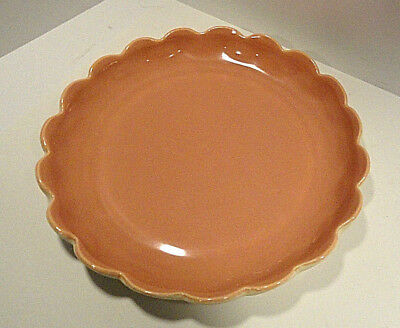 Vintage Catalina Pottery Coral Low Bowl