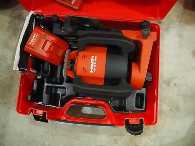 HILTI PR 3- HVSG green rotating laser level very good condition