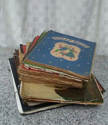 Vintage Scrapbooks Full Of Newspaper And Magazine Clippings