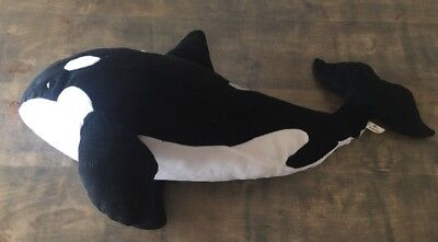 Sea World Orca Shamu Whale Plush Toy 12 Stuffed Animal 15 00