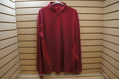 NWTags Mens Cutter & Buck 1/4 Zip LS Pullover Jacket Large Red W/ Logo 103462