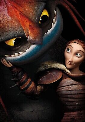 HOW TO TRAIN YOUR DRAGON 2 Movie PHOTO Print POSTER Film Art Hiccup Toothless 03