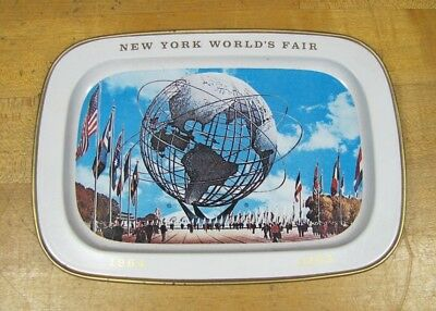 1964 1965 NYWF New York World's Fair UNISPHERE Tray USS tip trinket coin jewelry