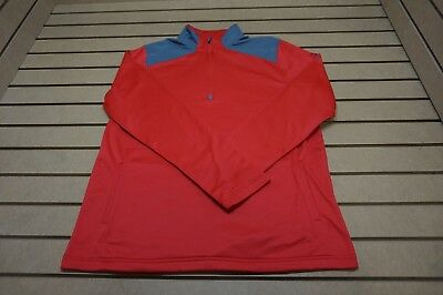 NEW Under Armour Golf  Pullover Mens Size Large  Red 85b