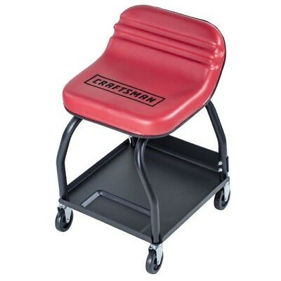 Mechanics Creeper Seat High Rise Rolling Chair Garage Work Shop Mechanic Stool