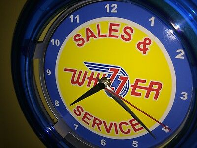 *** Whizzer Motor Scooter Motorcycle Bicycle Man Cave Blue Neon Wall Clock Sign
