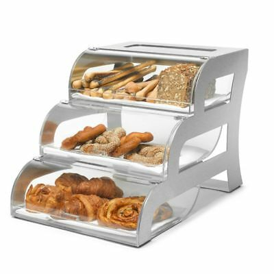 Rosseto BK010 3-Tier Bakery Display Case with Stainless Frame