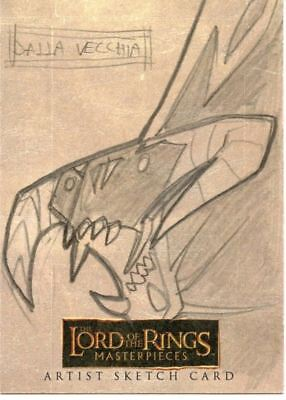 Lord of the Rings Masterpieces Sketch Card by Dalla Vecchia  Balrog
