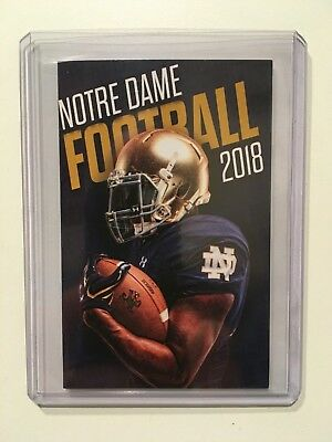 University Of Notre Dame Fighting Irish 2018-2019 Football Pocket Schedule - New