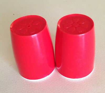 Vintage Retro Red Decor Salt and Pepper Shakers - 1960's Australia Unused