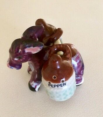 Vintage Donkey And Pitchers Salt and Pepper Shakers - 1950's Japan