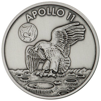 Historical Memorabilia 1969-2019 Apollo 11 50th Robbins Medal 5 Oz Silver With Alloy Ngc Ms70 Sku56031