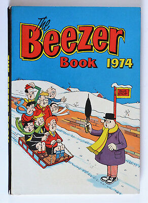 The Beezer Annual Book 1974 Unclipped, VGC No Writing.