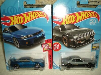 Hot Wheels '82 Nissan Skyline R30 & Nissan GT-R R33 Car Lot (2) Diecast 1:64