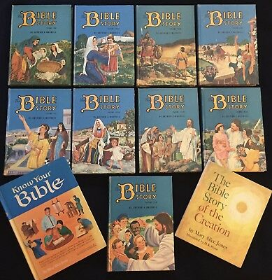 Lot Vol 2-10 THE BIBLE STORY Arthur S Maxell +MARY ALICE JONES Know Your Bible+