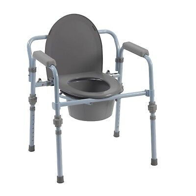 Drive Medical Folding Steel Bedside Commode/Cover/Lid *BRAND NEW in Box -1 Count
