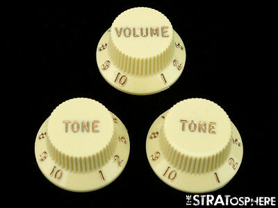 Fender Deluxe Series Stratocaster Strat GUITAR KNOBS Volume Tone Control Aged