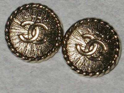 Chanel  Auth. 2   Matte Gold  Buttons  Cc Logo 10  Mm  New Lot 2