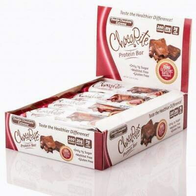 ChocoRite 20g Uncoated Protein Bars by HealthSmart - Double Chocolate Extreme