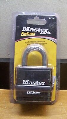 New Master Lock 1178D Set Your Own Combination 4 Digit Pro Series Padlock