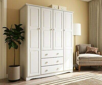 100% Solid Wood Family Wardrobe/Armoire/Closet by Palace Imports