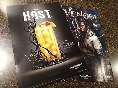 Rare VENOM Movie Exclusive custom edition Comic book #1 w promo insert!