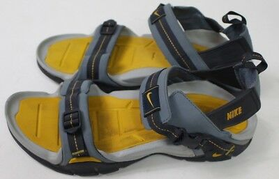 d2503acb6105 Nike ACG Straprunner VII Sandals Hiking Shoes Men s Sz 10 Black Gray yellow  EUC