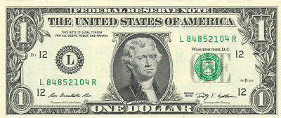 $1 Bill with JEFFERSON instead of Washington! Novelty ERROR! Real Dollar Bill !