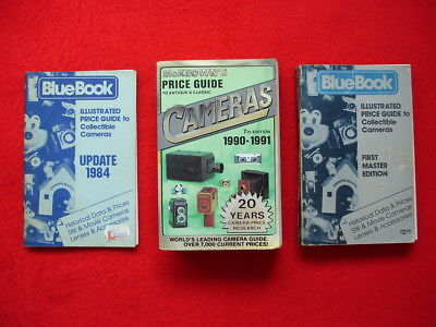 3 PRICE GUIDEs to antique and classic collectible CAMERAs, 3 Bücher, alt