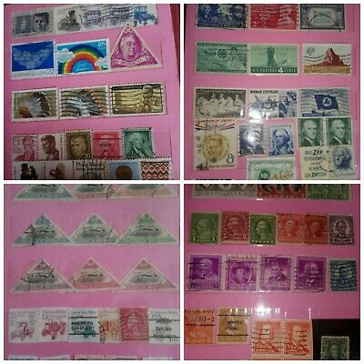 Post stamp old collection Small Album Worldwide george washington lot of 85