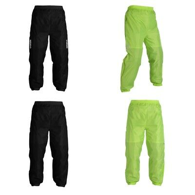Oxford Rainseal All Weather Waterproof Motorcycle Motorbike Over Trousers Hi Viz