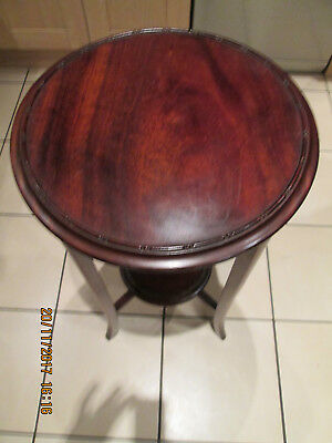 Antique Victorian Mahogany Wine, Lamp, Occasional table