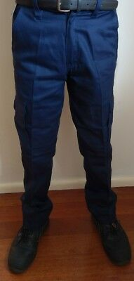 Vallen 310C Drill Cargo Pants Navy Size 82R only.    Brand New x 2 pair