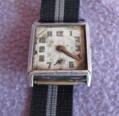 Vintage Art Deco Silver Hallmark Hafis Swiss Made Mens Watch as found