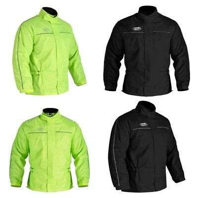 Oxford Rainseal All Weather Waterproof Motorcycle Motorbike Over Jacket Hi Viz