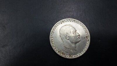 Egypt  25 Piastres  Silver Coin 1970 High Grade