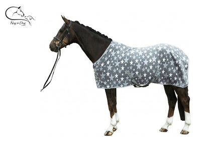 """HKM """"Stars"""" HORSE COB PONY SHOW TRAVEL FLEECE RUG Stable Cooler FREE DELIVERY"""