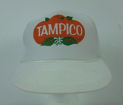 f9204006a9f Tampico Vintage Trucker Hat Orange Beverage Punch Juice Drink Snapback Mesh  Cap