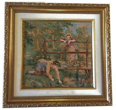 Antique  French  tapestry Made in France (Frame not included )