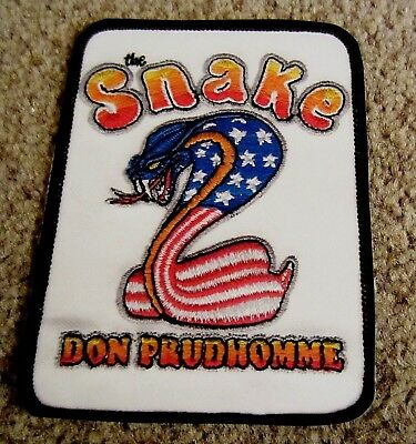 """Snake and Mongoose Novelty Gloss """"Patch"""" Stickers Set Tom McEwen & Don Prudhomme"""