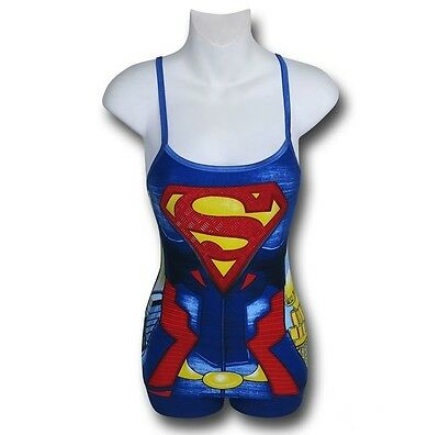 Nwt Dc Comics Supergirl Rivets Anatomical Pajamas Cami Short Panty 2 Pc Pj Set L