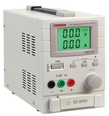 30V, 5A DC Adjustable Regulated Bench Power Supply - DURATOOL