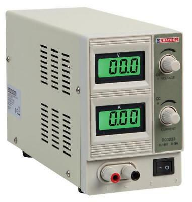 18V, 3A DC Adjustable Regulated Bench Power Supply - DURATOOL